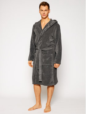 Tommy Hilfiger Tommy Hilfiger Mânecă lungă Icon Hooded Bathrobe 2S87905573 Gri