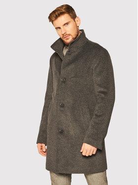 Oscar Jacobson Oscar Jacobson Μάλλινο παλτό Storviker 7154 9049 Γκρι Regular Fit