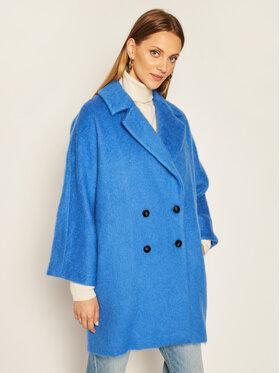 Marella Marella Prechodný kabát Nubie 30161408 Modrá Relaxed Fit