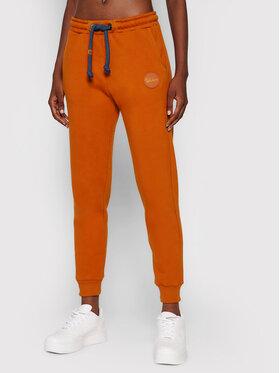 Waikane Vibe Waikane Vibe Teplákové nohavice Wildlife Oranžová Regular Fit