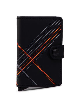 Secrid Secrid Малък мъжки портфейл Miniwallet MSt Stitch Linea Черен