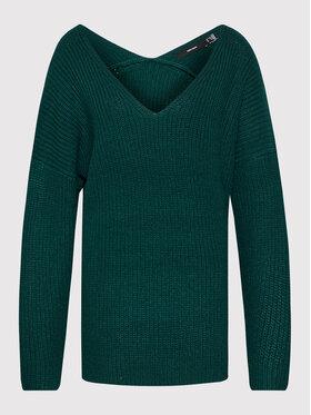 Vero Moda Curve Vero Moda Curve Sweter Lea 10252754 Zielony Regular Fit