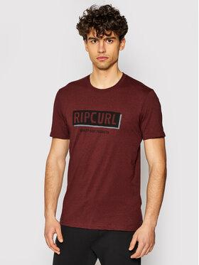 Rip Curl Rip Curl T-Shirt Boxed CTERK9 Bordowy Standard Fit