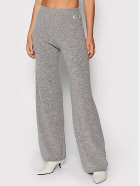 TWINSET TWINSET Spodnie materiałowe 212TP3144 Szary Relaxed Fit