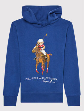 Polo Ralph Lauren Polo Ralph Lauren Μπλούζα Ls Po Hood 323853795001 Μπλε Regular Fit