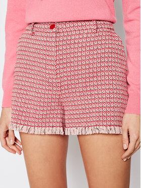 Pinko Pinko Szorty materiałowe Bacchettone 20211 BLK01 1G15RW 8425 Różowy Slim Fit