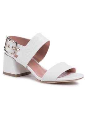 TwinSet Sandále Sandalo 201TCT014 Biela
