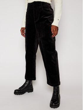 Tommy Jeans Tommy Jeans Kalhoty z materiálu Corduroy DW0DW09092 Černá Regular Fit