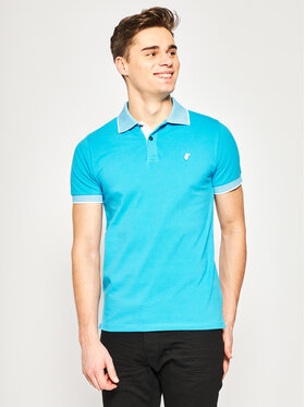 Save The Duck Save The Duck Polo DR058M PICOX Niebieski Regular Fit