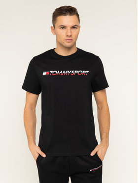 Tommy Sport Tommy Sport T-Shirt Logo Chest S20S200051 Černá Regular Fit