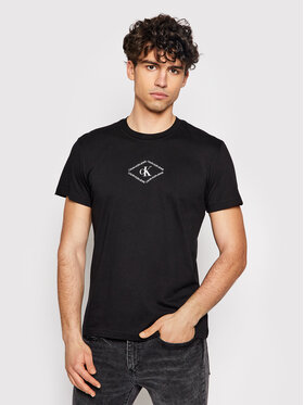 Calvin Klein Jeans Calvin Klein Jeans Тишърт J30J317448 Черен Regular Fit
