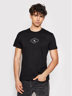 Calvin Klein Jeans Calvin Klein Jeans Tričko J30J317448 Čierna Regular Fit