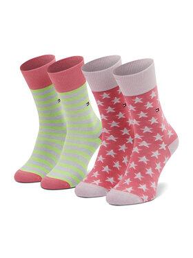 Tommy Hilfiger Tommy Hilfiger 2 pár hosszú szárú unisex zokni 100000816 Rózsaszín