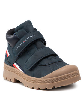 Tommy Hilfiger Tommy Hilfiger Trzewiki Mid Cut Velcro Shoe T1B4-32085-1269 S Granatowy