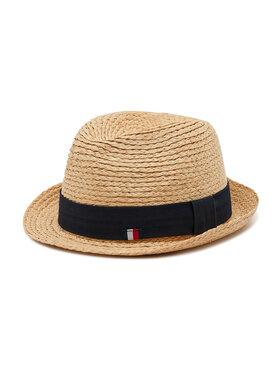 Tommy Hilfiger Tommy Hilfiger Kapelusz Straw Hat AM0AM07356 Beżowy