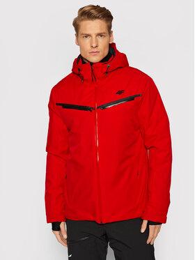 4F 4F Kurtka narciarska KUMN007 Czerwony Regular Fit