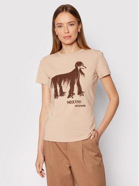 Weekend Max Mara Weekend Max Mara T-Shirt Rana 59760419 Hnědá Regular Fit