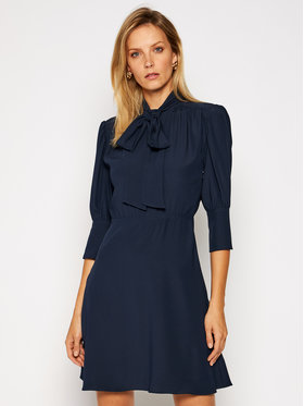 Victoria Victoria Beckham Victoria Victoria Beckham Vestito chemisier Fluid Cady 2420WDR002066B Blu scuro Regular Fit