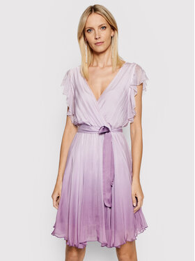 Guess Guess Kokteilinė suknelė W1GK0D WDXX0 Violetinė Slim Fit