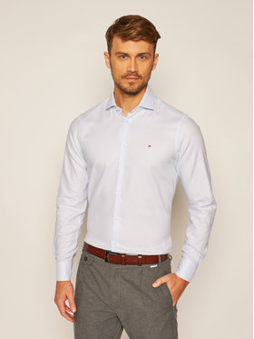 Tommy Hilfiger Tailored Tommy Hilfiger Tailored Cămașă Dobby Classic TT0TT07819 Albastru Slim Fit