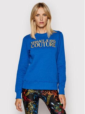 Versace Jeans Couture Versace Jeans Couture Mikina Logo Embro 71HAIT01 Modrá Regular Fit