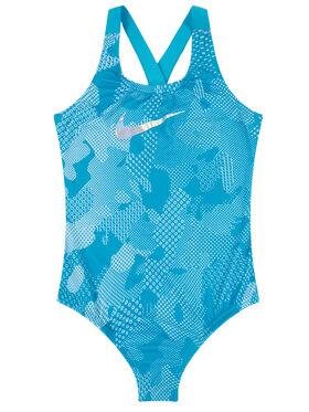 Nike Nike Strój kąpielowy Optic Camo Crossback NESS9616 Niebieski