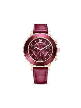 Swarovski Swarovski Zegarek Octea Lux Chrono 5547642 Bordowy