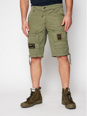 Aeronautica Militare Aeronautica Militare Bavlnené šortky 211BE041CT1122 Zelená Regular Fit