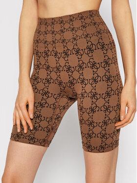 Guess Guess Pantaloncini sportivi O1BA90 ZZ04N Marrone Slim Fit