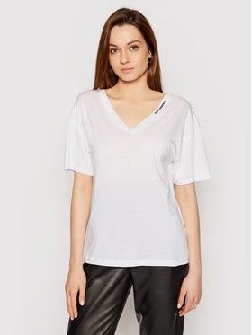 KARL LAGERFELD KARL LAGERFELD T-shirt Double V Neck 211W1701 Bijela Regular Fit
