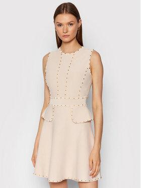 Elisabetta Franchi Elisabetta Franchi Φόρεμα υφασμάτινο AM-19B-16E2-V450 Μπεζ Slim Fit