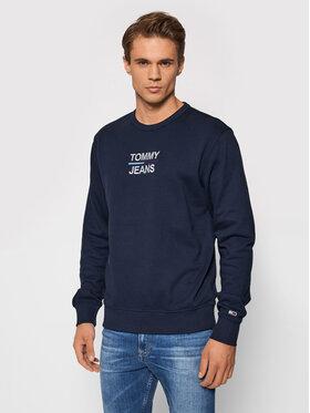 Tommy Jeans Tommy Jeans Pulóver Tjm Essential Crew DM0DM10910 Sötétkék Regular Fit
