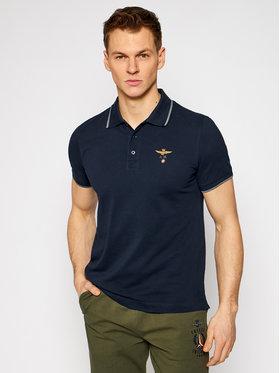 Aeronautica Militare Aeronautica Militare Тениска с яка и копчета 211PO1308P82 Тъмносин Regular Fit