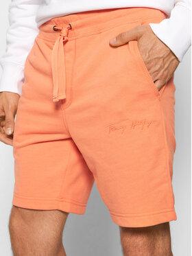 Tommy Hilfiger Tommy Hilfiger Szorty sportowe Signature MW0MW18721 Pomarańczowy Regular Fit