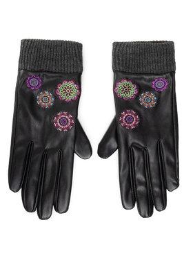 Desigual Desigual Дамски ръкавици 20WAAL02 Черен
