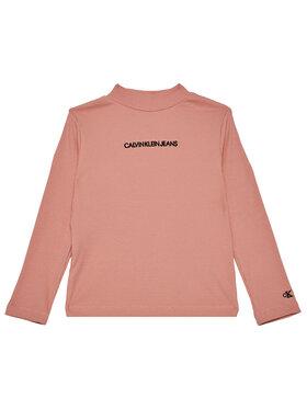 Calvin Klein Jeans Calvin Klein Jeans Bluse Rib Ls Mock Neck IG0IG00673 Rosa Regular Fit