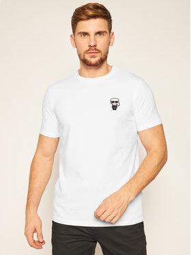 KARL LAGERFELD KARL LAGERFELD T-Shirt Crewneck 755027 502221 Λευκό Regular Fit