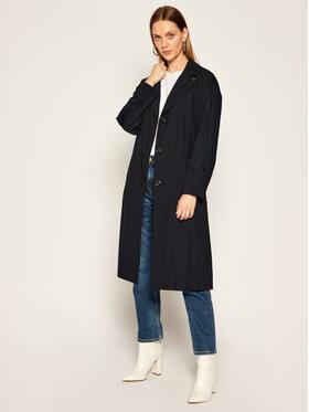 Calvin Klein Calvin Klein Тренч Open Collar Paper K20K202050 Черен Regular Fit