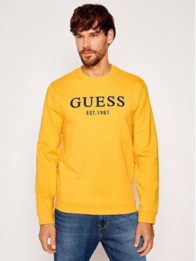 Guess Guess Džemperis Bastian M0YQ31 K7ON0 Geltona Slim Fit