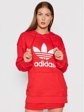 adidas adidas Bluza adicolor Trefoil H33588 Czerwony Regular Fit
