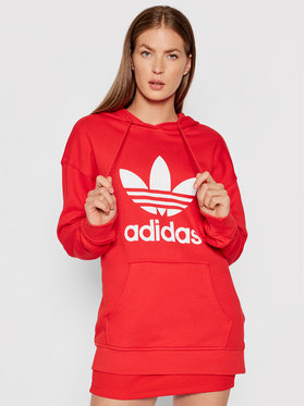 adidas adidas Суитшърт adicolor Trefoil H33588 Червен Regular Fit