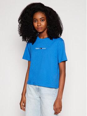 Tommy Jeans Tommy Jeans Marškinėliai Linear Logo DW0DW10057 Mėlyna Regular Fit