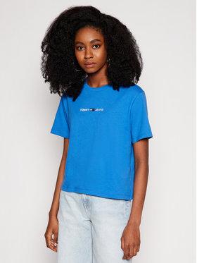 Tommy Jeans Tommy Jeans Póló Linear Logo DW0DW10057 Kék Regular Fit