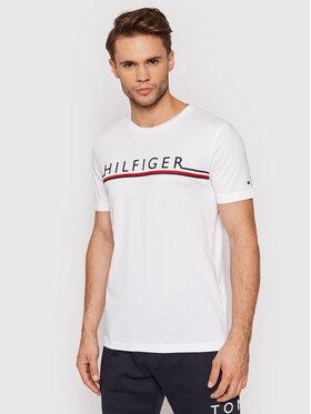 Tommy Hilfiger Tommy Hilfiger T-Shirt Corp Stripe MW0MW20153 Biały Regular Fit