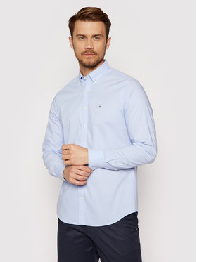 Gant Gant Koszula Broadcloth 3046402 Niebieski Slim Fit