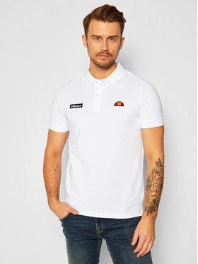 Ellesse Ellesse Тениска с яка и копчета Montura SHS04475 Бял Regular Fit