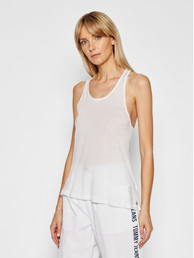 Tommy Hilfiger Tommy Hilfiger Top Tank UW0UW02882 Biela Regular Fit