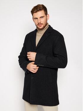 Pierre Cardin Pierre Cardin Gyapjú kabát 71780 4730 Fekete Regular Fit