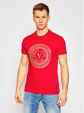 Versace Jeans Couture Versace Jeans Couture Marškinėliai B3GWA7TE Raudona Slim Fit