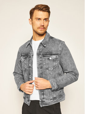 Calvin Klein Jeans Calvin Klein Jeans Giacca di jeans Washed Foundation J30J316005 Grigio Slim Fit